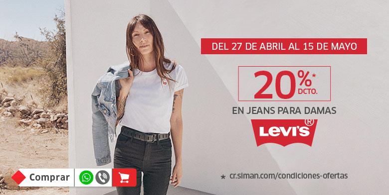 20% de descuento en Jeans Levis para damas